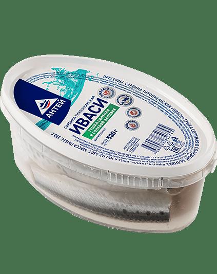 Тушка соленая Иваси в солевой заливке 500г
